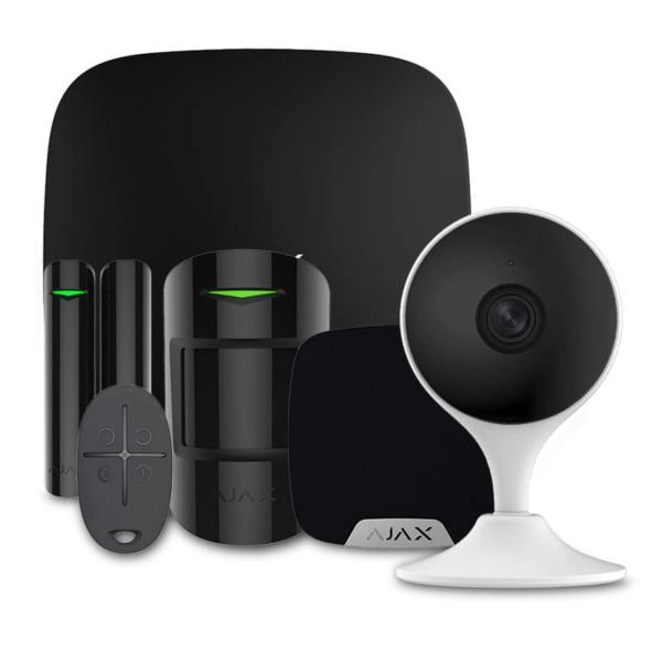 Охоронні сигналізації/Комплекти сигналізацій Комплект сигналізації Ajax StarterKit + HomeSiren black + Wi-Fi камера 2MP-C22EP-A