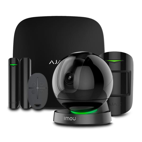 Охоронні сигналізації/Комплекти сигналізацій Комплект бездротової сигналізації Ajax StarterKit black + Wi-Fi камера 2MP-A26HP