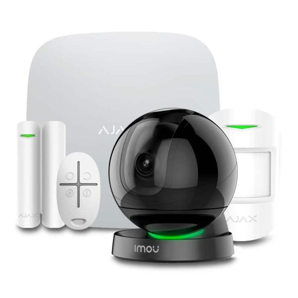 Security Alarms/Alarm Kits Wireless Alarm Kit Ajax StarterKit white + Wi-Fi Camera 2MP-A26HP