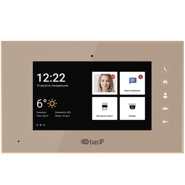 Домофоны/Видеодомофоны IP-видеодомофон BAS-IP AQ-07 gold