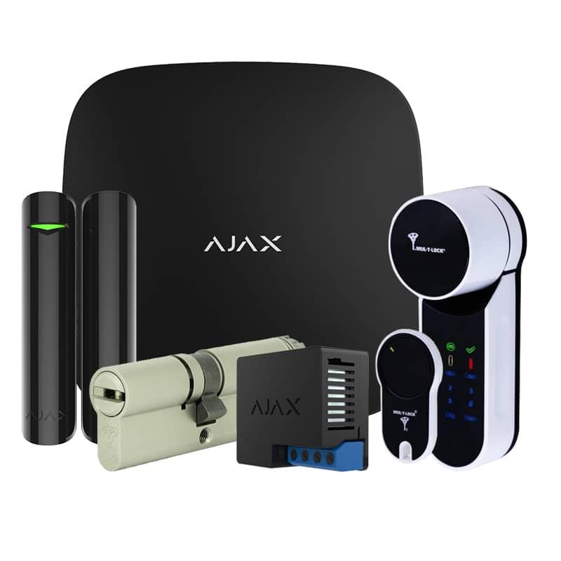 Комплект бездротової сигналізації Ajax StarterKit black + Mul-T-Lock Entr