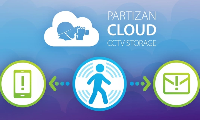 Video surveillance Partizan Cloud Storage. PUSH and EMAIL notifications.