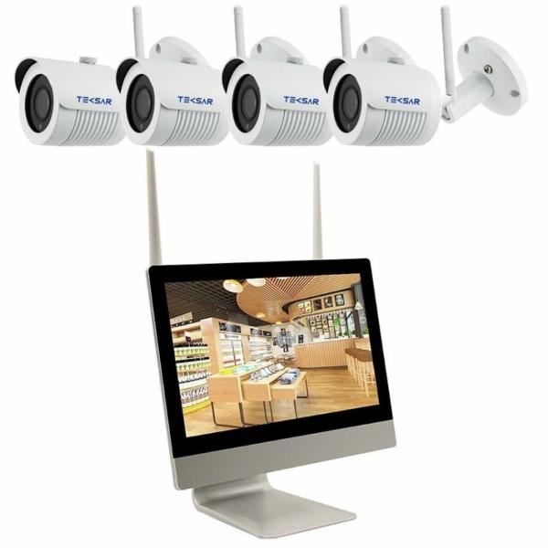 Video surveillance/CCTV Kits CCTV Kit Tecsar Wi-Fi IP 4OUT 2MEGA