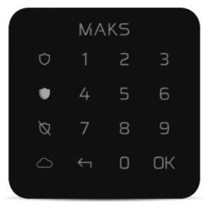 Охранные системы/Клавиатуры Клавиатура Maks Keypad mini black