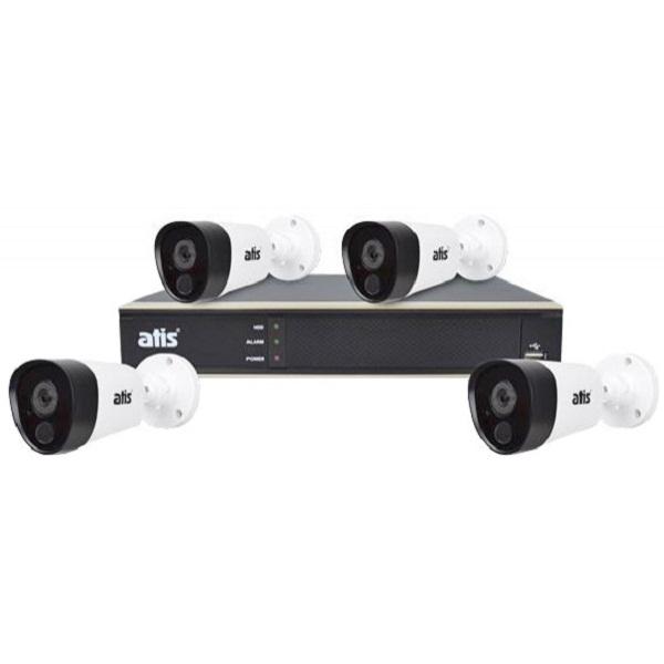 Видеонаблюдение/Комплекты видеонаблюдения Комплект видеонаблюдения Atis PIR kit 4ext 5MP