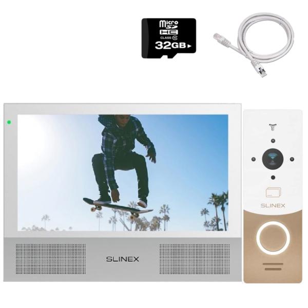 Домофони/Відеодомофони Комплект відеодомофона Slinex HD-KIT W premium