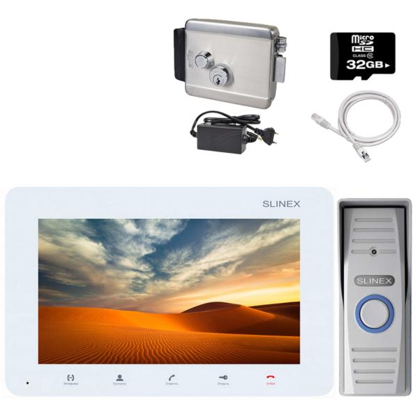 Домофони/Відеодомофони Комплект відеодомофона Slinex KIT W + LOCK standart