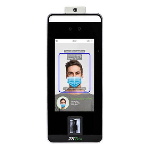 Биометрический терминал ZKTeco SpeedFace-V5L[TD] с распознаванием лиц и измерением температуры