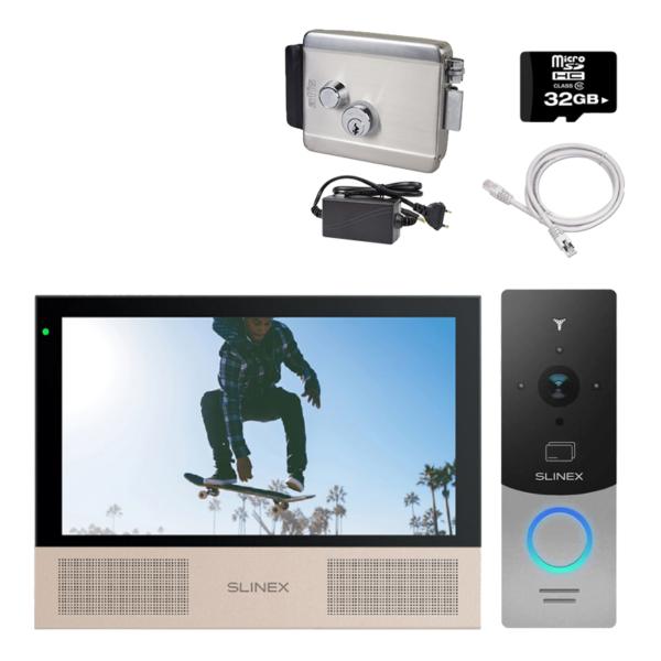 Домофоны/Видеодомофоны Комплект видеодомофона Slinex HD-KIT B + LOCK premium