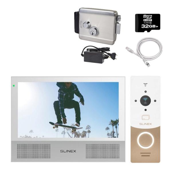 Intercoms/Video intercoms Video intercom kit Slinex HD-KIT W + LOCK premium