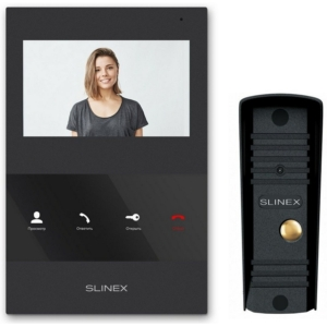 Домофоны/Видеодомофоны Комплект видеодомофона Slinex SQ-04 black + ML-16HR black