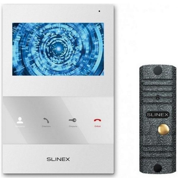 Intercoms/Video intercoms Video intercom kit Slinex SQ-04 white + ML-16НR grey antiq