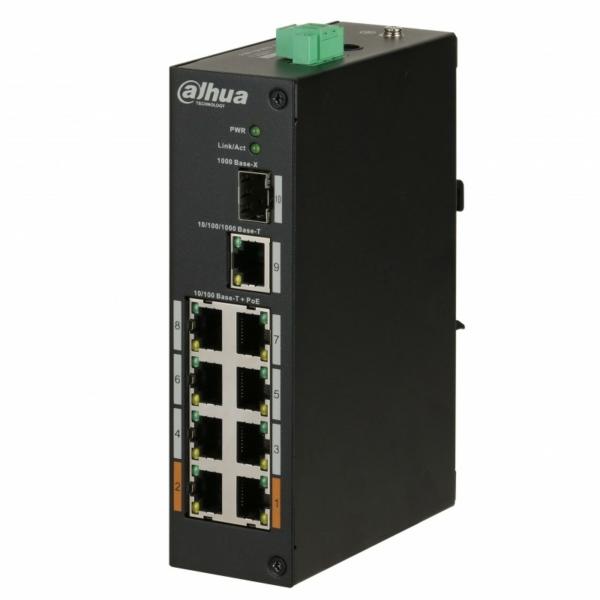 Мережеве обладнання/Комутатори 8-портовий PoE комутатор Dahua DH-PFS3110-8ET-96 некерований