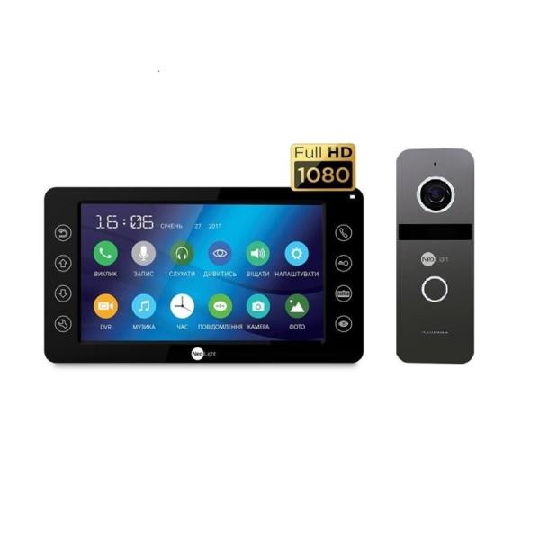 Домофоны/Видеодомофоны Комплект видеодомофона Neolight Kappa+ HD Black / Solo FHD Graphite