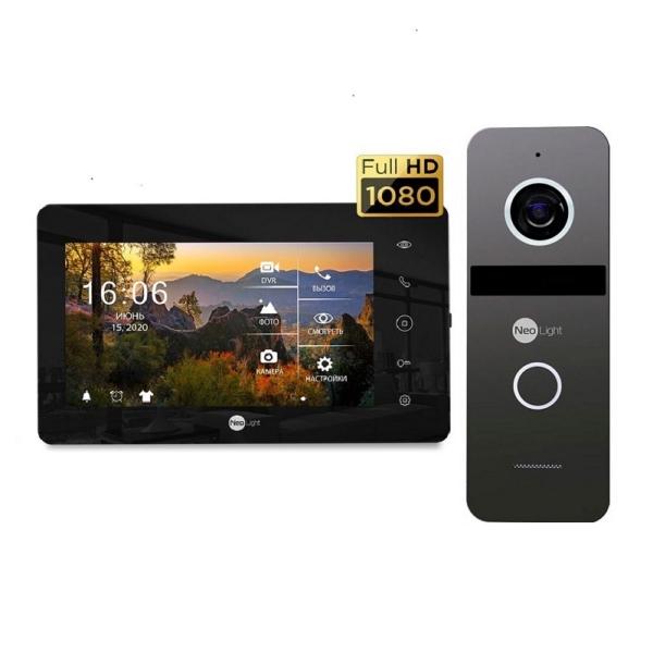 Домофони/Відеодомофони Комплект відеодомофону NeoLight NeoKIT HD+ Black/Graphite
