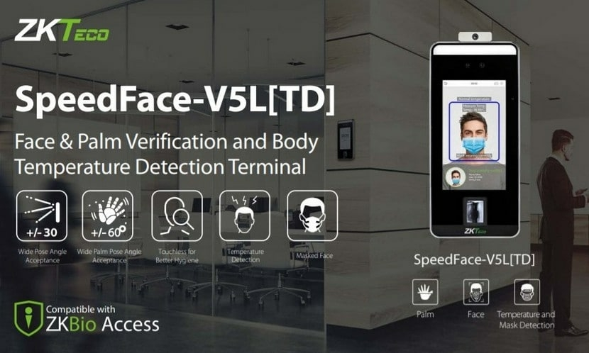 Biometric systems ZKTeco SpeedFace-V5L Biometric Terminal Features Overview