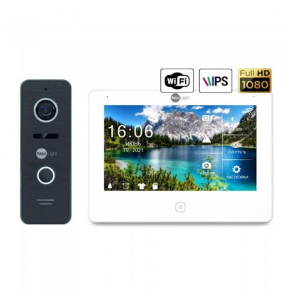 Домофоны/Видеодомофоны Комплект видеодомофона Neolight NeoKIT HD Pro WF black
