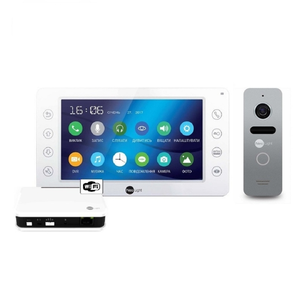 Домофоны/Видеодомофоны Комплект видеодомофона Neolight Kappa+ WiFi Box Silver