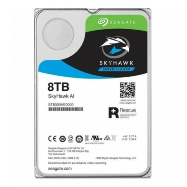 Video surveillance/HDD for CCTV HDD Seagate Skyhawk ST8000VE000 8 TB