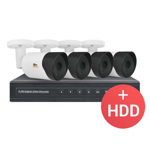 Video surveillance/CCTV Kits CCTV Kit Partizan IP-19 4xCAM + 1xNVR + HDD
