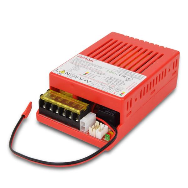 Джерела живлення/Джерела безперебійного живлення 12/24 В Блок безперебійного живлення Faraday Electronics 55W UPS ASCH PL під акумулятор 9-12А/год в пластиковому корпусі