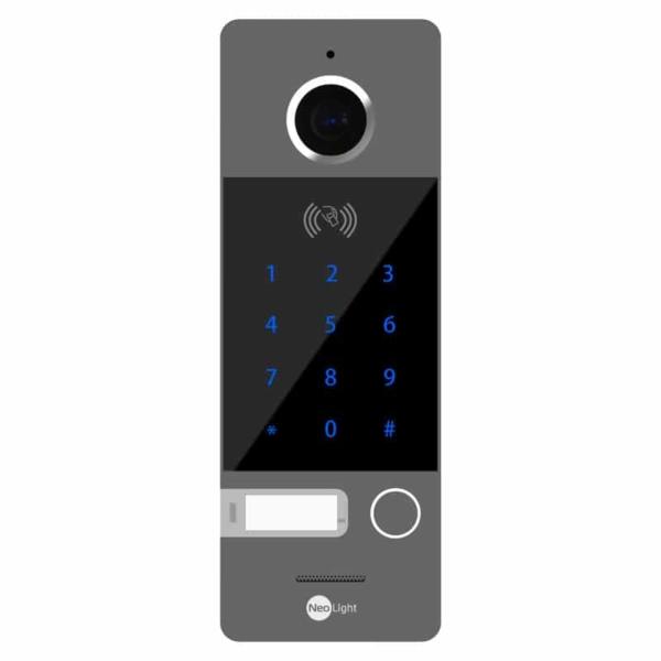 Домофони/Викличні відеопанелі Виклична відеопанель NeoLight OPTIMA ID KEY FHD graphite