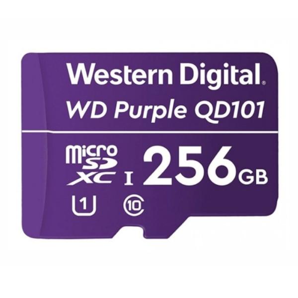 Video surveillance/MicroSD cards Western Digital MEMORY MicroSDXC QD101 256GB UHS-I WDD256G1P0C WDC
