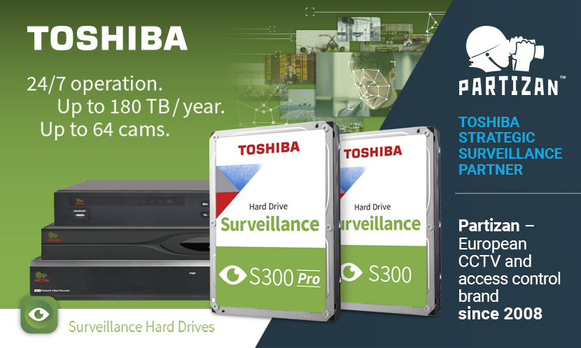 Video surveillance Partizan Security is now a Strategic Surveillance Storage Partner of Toshiba Electronics Europe