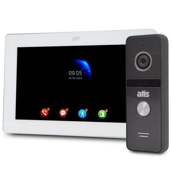 Домофони/Відеодомофони Комплект відеодомофона Atis AD-770FHD white + AT-400FHD black