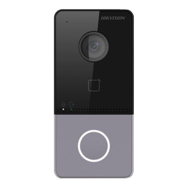 Домофоны/Вызывные видеопанели Виклична Wi-Fi IP-відеопанель Hikvision DS-KV6113-WPE1(B)