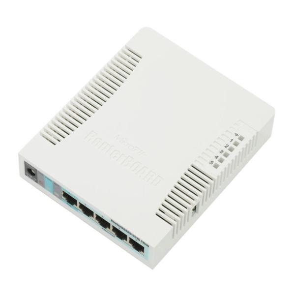 Мережеве обладнання/Wi-Fi маршрутизатори, Точки доступу Wi-Fi маршрутизатор MikroTik RB951G-2HnD з 5-портами Ethernet
