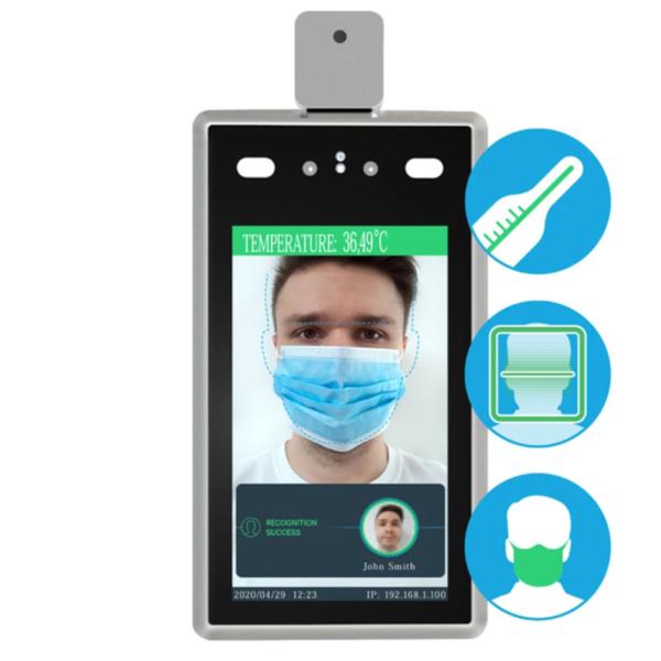 Контроль доступа/Биометрические системы Система контроля доступа Partizan STD-2MP WM для распознавания лиц и измерения температуры