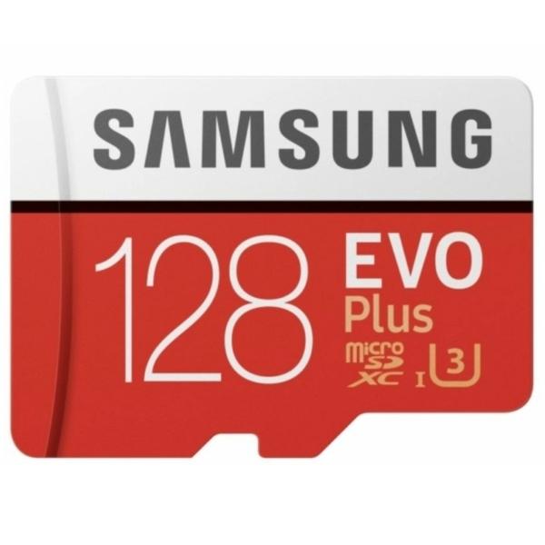Video surveillance/MicroSD cards MicroSD сard Samsung 128GB microSDXC C10 UHS-I U3 R100/W60MB/s Evo Plus V2 + SD adapter (MB-MC128HA/RU)