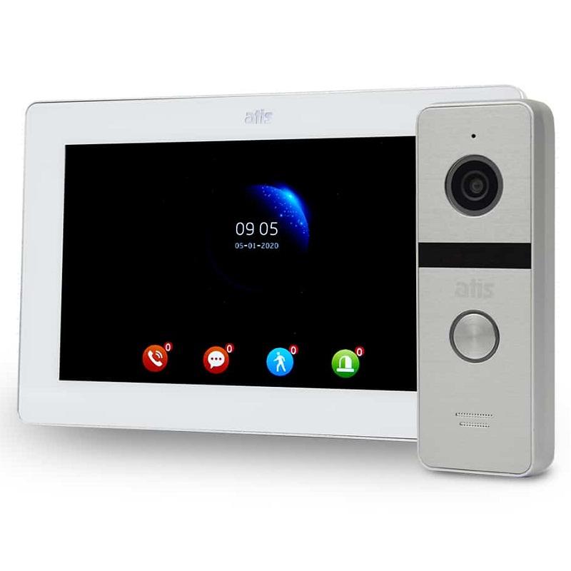 Комплект видеодомофона Atis AD-770FHD/T white с поддержкой Tuya Smart + AT-400FHD silver