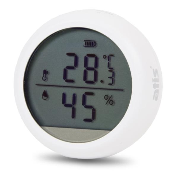 Охоронні сигналізації/Охоронні датчики Бездротовий автономний датчик температури і вологості Atis 600DW-T з підтримкою Tuya Smart