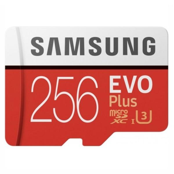 Видеонаблюдение/Карты памяти MicroSD Карта памяти Samsung 256ГБ microSDXC C10 UHS-I U3 R100/W90MB/s Evo Plus V2 + SD адаптер (MB-MC256HA/RU)