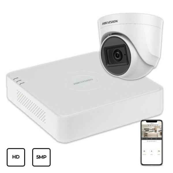 Видеонаблюдение/Комплекты видеонаблюдения Комплект видеонаблюдения Hikvision HD KIT 1x5MP INDOOR