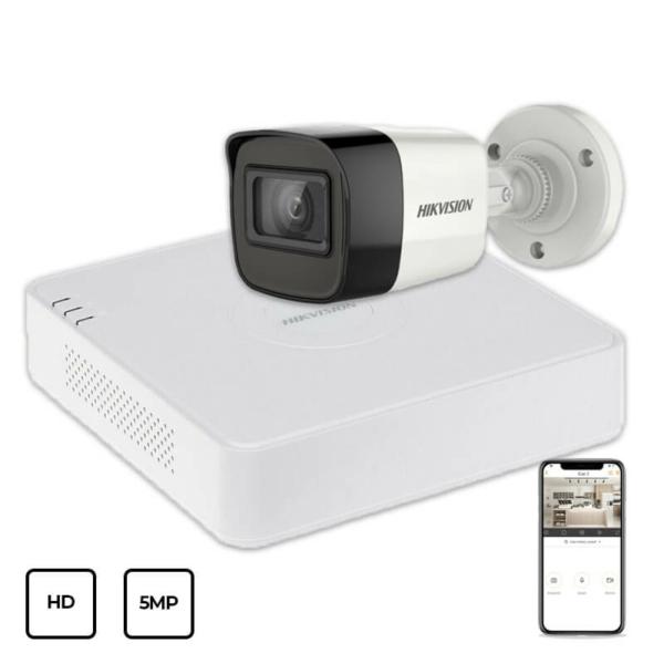 Відеонагляд/Комплекти відеоспостереження Комплект відеоспостереження Hikvision HD KIT 1x5MP OUTDOOR