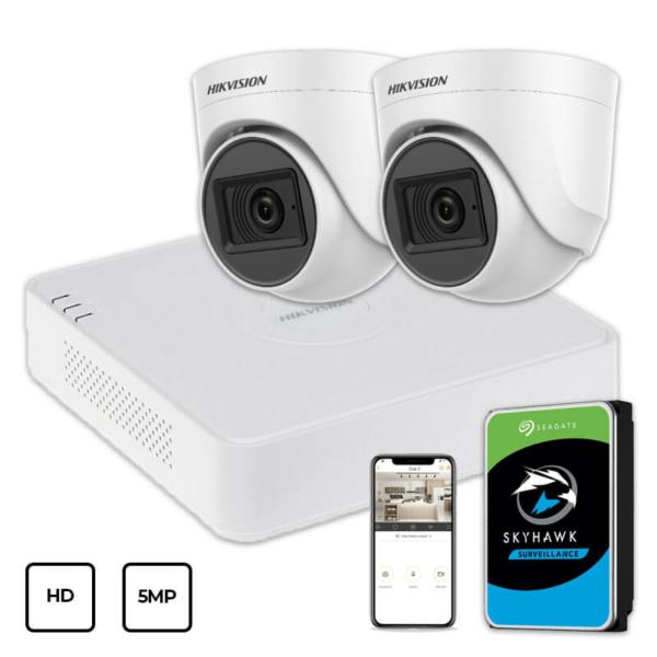Video surveillance/CCTV Kits Video Surveillance Kit Hikvision HD KIT 2x5MP INDOOR + HDD 1TB