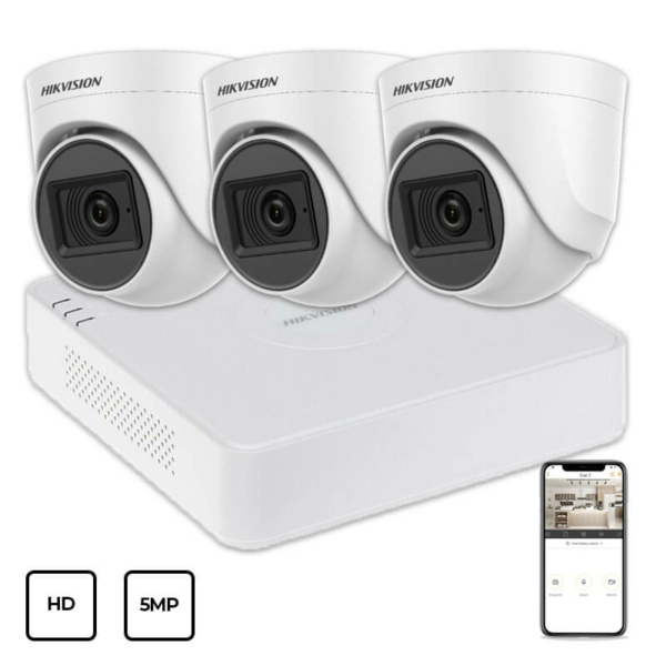 Видеонаблюдение/Комплекты видеонаблюдения Комплект видеонаблюдения Hikvision HD KIT 3x5MP INDOOR
