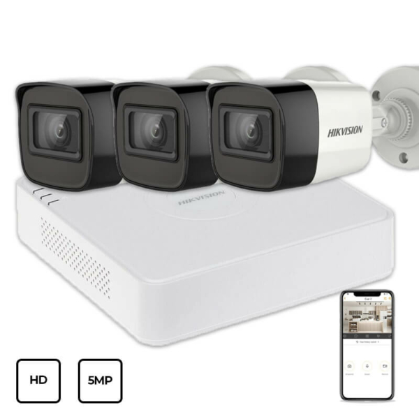 Video surveillance/CCTV Kits Video Surveillance Kit Hikvision HD KIT 3x5MP OUTDOOR