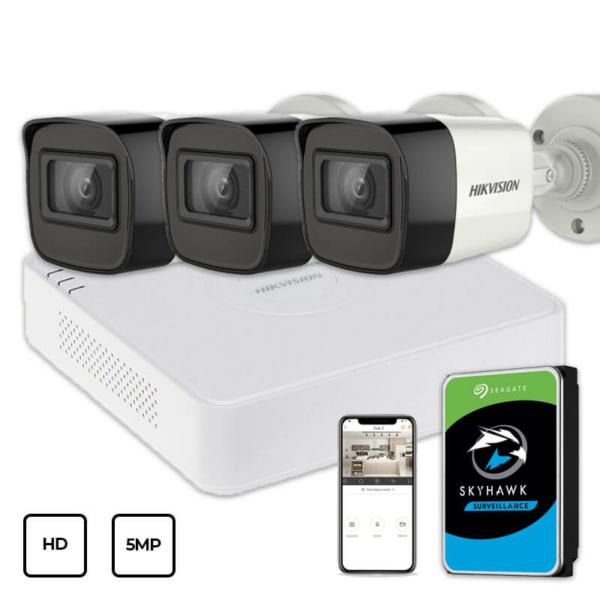 Video surveillance/CCTV Kits Video Surveillance Kit Hikvision HD KIT 3x5MP OUTDOOR + HDD 1TB