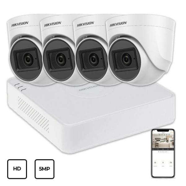 Відеонагляд/Комплекти відеоспостереження Комплект відеоспостереження Hikvision HD KIT 4x5MP INDOOR