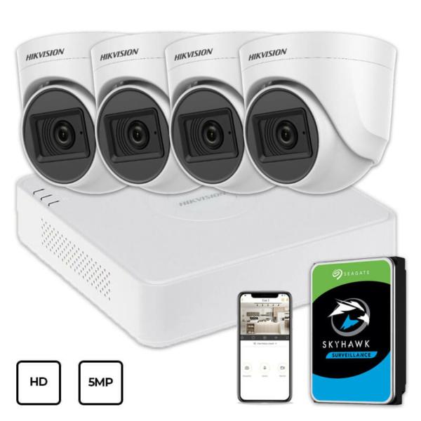 Video surveillance/CCTV Kits Video Surveillance Kit Hikvision HD KIT 4x5MP INDOOR + HDD 1TB