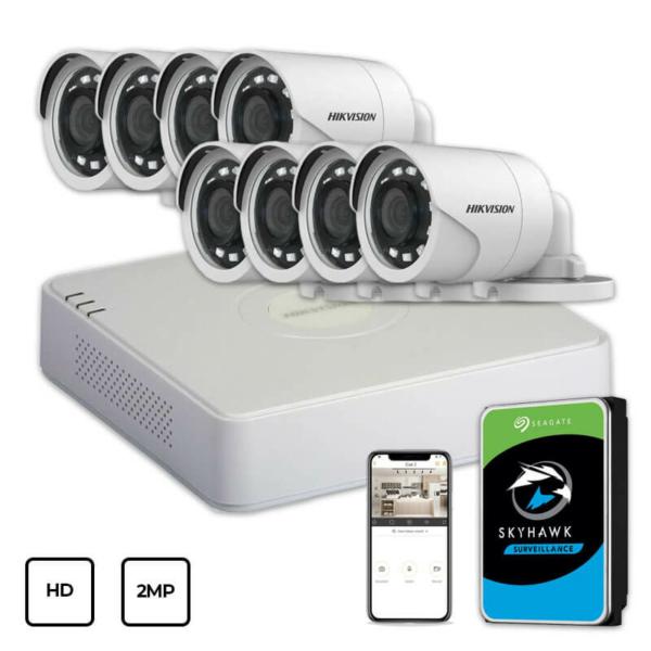 Video surveillance/CCTV Kits Video Surveillance Kit Hikvision HD KIT 8x2MP OUTDOOR + HDD 1TB