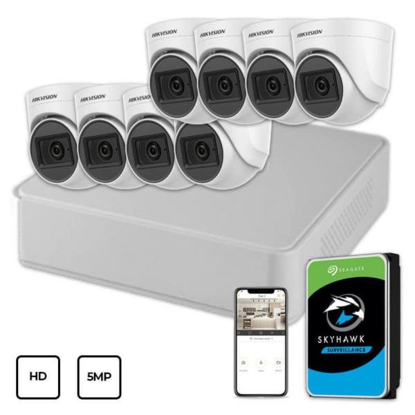 Відеонагляд/Комплекти відеоспостереження Комплект відеоспостереження Hikvision HD KIT 8x5MP INDOOR + HDD 1TB