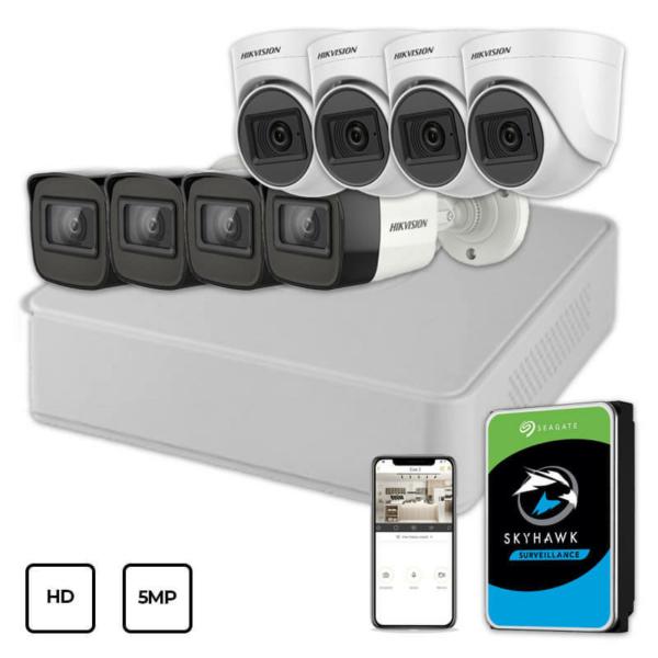 Відеонагляд/Комплекти відеоспостереження Комплект відеоспостереження Hikvision HD KIT 8x5MP INDOOR-OUTDOOR + HDD 1TB