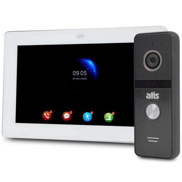 Домофони/Відеодомофони Комплект відеодомофона Atis AD-770FHD white + AT-400HD black