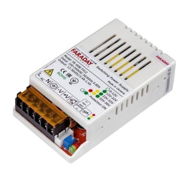 Джерела живлення/Блоки живлення Блок живлення Faraday Electronics БЖ 60 Вт/12-36 В/PL