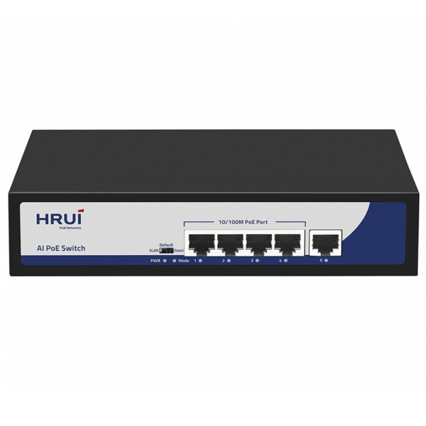 Network Hardware/Switches 5-Port PoE Switch HongRui HR900-AF-41N unmanaged